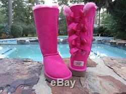 Nib Ugg Australia Girls Kids Tall Bailey Bow Boots 1007309k Size 13