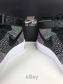 Nike AF1 Ultra Flyknit Shoes Mid GS Kids Pink Sneakers Boy Girl Youth GS Size 6Y