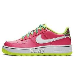 Nike Air Force 1 (GS) girl's size 6 Youth=(women shoes size 7.5) pink/white/volt