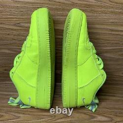 Nike Air Force 1 LV8 Utility GS Volt Shoes AR1708-700 Girls Boys Size 7Y Neon