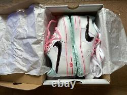Nike Air Force 1 White/Atomic Pink/Blue, Big Girls' Shoe Size 3.5 New in Box