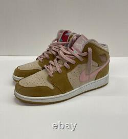 Nike Air Jordan 1 Hare Lola Bunny 2008 Shoes Wheat Pink 374458-761 Girls GS 7Y