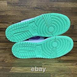 Nike Air Jordan 1 Low GS (Youth Size 7 = Women Size 8.5) Purple Sneaker Shoe