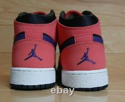 Nike Air Jordan 1 Mid 2013 Size 5.5 Youth 5.5Y Black Boys Girls Shoe 55112-016