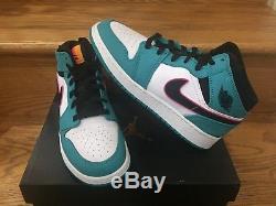 Nike Air Jordan 1 Mid South Beach GS Sz 5.5Y Boys Kids Girls New 2018 DS