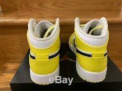 Nike Air Jordan 1 Mid Yellow Floral White GS PS TD Toddler Kids Girls Sz 4C-7Y