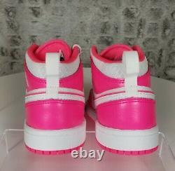 Nike Air Jordan 1 Retro Mid Hyper Pink Basketball shoes 640737-611 Size 1.5Y