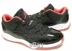 Nike Air Jordan 11 Retro Bred Low Black Red Boys Girls Trainers 505835 012