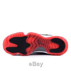 Nike Air Jordan 11 Retro GS CDP Black Red Bred Girl Kids Youth 4Y-7Y Shoes 2008
