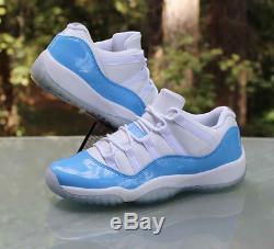 Nike Air Jordan 11 Retro Low Blue White 528896106 Kids Boys Girls Trainers (PTI)