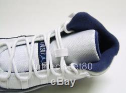 Nike Air Jordan 11 Retro Win Like 82 White Mid Navy Boys Girls Kids Trainers