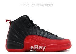 Nike Air Jordan 12 Retro BG Black Red 153265002 Kids Boys Girls Trainers(PTI)