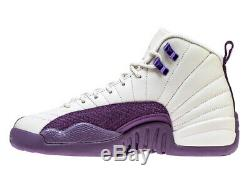 Nike Air Jordan 12 Retro GS PRO PURPLE DESERT SAND 510815-001 4Y-8Y Kid's Girl's