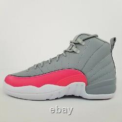 Nike Air Jordan 12 Retro (GS) Wolf Grey Racer Pink 510815-060 New Youth Shoes