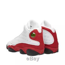 Nike Air Jordan 13 Retro Bg White Black True Red Kids Boys Girls Trainers (pti)