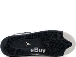 Nike Air Jordan 4 Retro BG Oreos Athletic Black Kids Boys Girl Trainers (PTI)