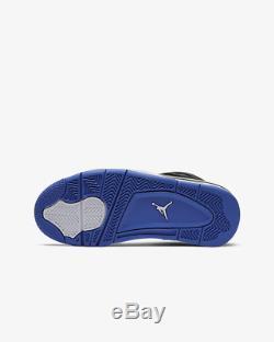 Nike Air Jordan 4 Retro SE Black/Rush Violet Racer Kids Boys Girls Trainers