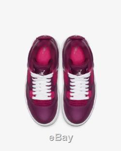 Nike Air Jordan 4 Retro True Berry White Rush Pink Kids Boys Girls Trainers