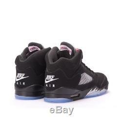 Nike Air Jordan 5 V OG Black Metallic Silver Kids Boys Girls Trainers (PTI)