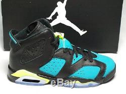 Nike Air Jordan 6 VI Retro GG Black Volt Ice Turbo Green Kids Girls 543390-043
