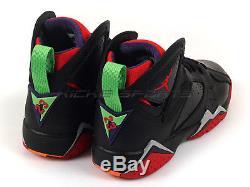 Nike Air Jordan 7 Retro BG Black/University Red/Green-Cool Grey 304774-029 GS