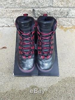 Nike Air Jordan Retro 10 DB SIZE 7y Doernbecher X Black Red kids boys girls 6 7