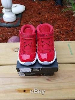 Nike Air Jordan Retro 11 Win Like 96 SIZE 7c Gym Red Toddler kids boys girls 5 6