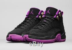 Nike Air Jordan Retro 12 XII HYPER VIOLET Black Girls GG GS Kids 510815-018