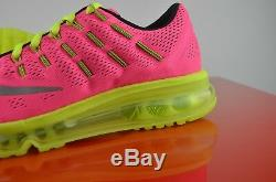 Nike Air Max 2016 Girls Gs Big Kids Pink Volt Running Shoes Sz 6.5y 807237-600