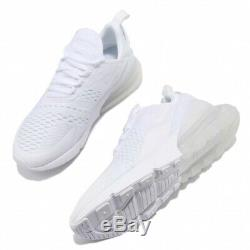 Nike Air Max 270 ALL WHITE GS 943345-103 Youth / Women Running Shoes 100%LEGIT