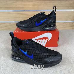 Nike Air Max 270 Black Blue New Shoes Size 3Y / Kids Boys Girls Ct6017-001