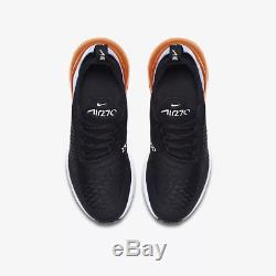 Nike Air Max 270 Black Twilight Pulse Total Orange White Kids Boys Girls Trainer