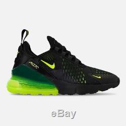 Nike Air Max 270 Black Volt Yellow Oil Grey Kids Boys Girls GS Size 943345 011