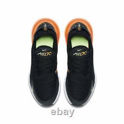 Nike Air Max 270 Boys Girls Womens Sports Trainers Shoes Black/orange New 5.5-6