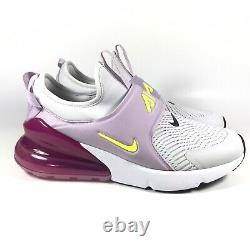 Nike Air Max 270 Extreme Grey Purple Pink Running Shoes CI1108-003 Youth Sz 5.5Y