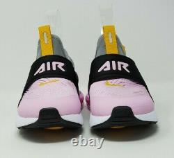 Nike Air Max 270 Extreme Shoe Black/White/Pink/Marigold Girls Size 2Y CI1107-008