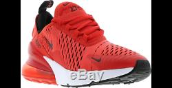 huge selection of f7728 90f1e Nike Air Max 270 Habanero Red Black White Kids Boys Girls Trainers All Sizes