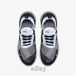 Nike Air Max 270 Jacquard Black Cool Grey Met Kids Boys Girls Trainers All Sizes