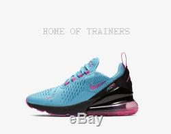 Nike Air Max 270 Light Blue Fury Black Laser Fuchsia Kids Boys Girls Trainers