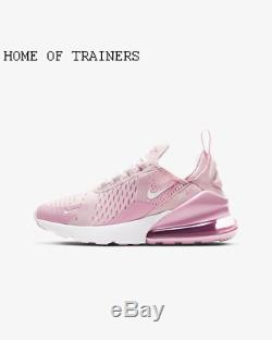 Nike Air Max 270 Pink Foam Pink Rise White Kids Boys Girls Trainers