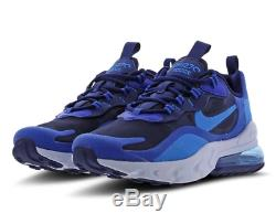 Nike Air Max 270 React Blue Void Blue Kids Boys Girls Trainers All Sizes
