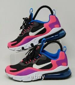 Nike Air Max 270 React Gs Running Shoes Youth Sz 4.5y Womens Sz 6 Bq0101-001