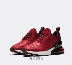 Nike Air Max 270 SE Team Red Burgundy Crush Kids Boys Girls Trainers All Sizes