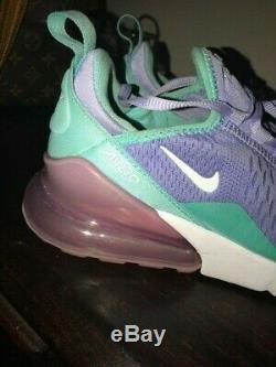 Nike Air Max 270 Twilight Pulse Aqua Girls Kids Size 5.5Y