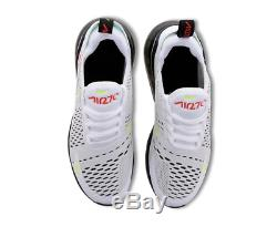 Nike Air Max 270 White Black Crimson Kids Boys Girls Trainers All Sizes
