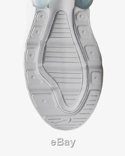 Nike Air Max 270 White Metallic Silver White Kids Boys Girls Trainers