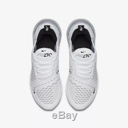 Nike Air Max 270 White White Black Kids Boys Girls Trainers All Sizes