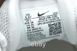 Nike Air Max 720 GS Running Shoes Triple White Metallic AQ3196-100 Size 5.5Y NEW