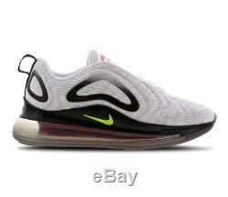 Nike Air Max 720 White Black Crimson Kids Boys Girls Trainers All Sizes