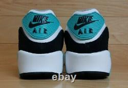 Nike Air Max 90 GS Size 4.5 Youth White Grey Teal Green Black Shoe CD6864-102